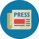 article, newspaper, press release icon