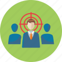 business, businessman, seo, target audience, target market, targeting, team icon