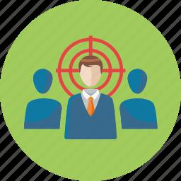 businessman, seo, target audience, target market icon