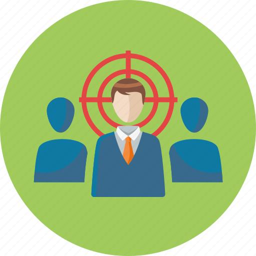 businessman, target audience, target market icon