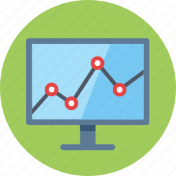 business growth, computer, graph, statistics, web analytics icon