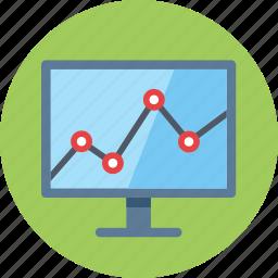 business growth, computer, data, graph, internet, seo, statistics, web analytics icon