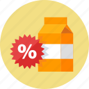 advertising, discount, promotion, sale, sticker icon
