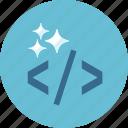 clean code, coding, html, seo icon