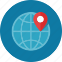 globe, gps, location, map pin, navigation icon