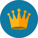 achievement, crown, king, royal, web content icon