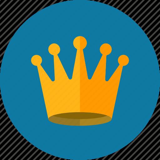 achievement, crown, king, royal, web content icon