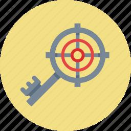 key, keyword, keyword targeting, search engines, target, targeting icon