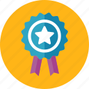 achievement, award, ribbon icon