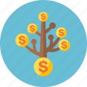 coins, finance, income, investment, money icon