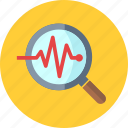 business analysis, magnifier, seo monitoring icon