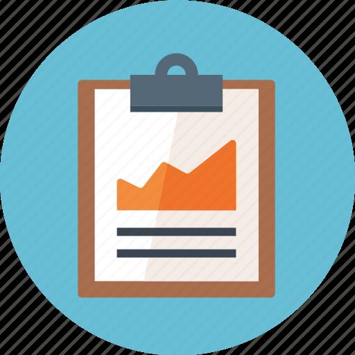 clipboard, document, file, graph, paper, report, reports, seo, seo reports icon