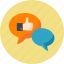 chat, social media, speech bubbles, talk icon