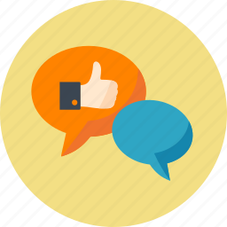 chat, comment, communication, internet, like, message, seo, social engagement, social media, speech bubbles, talk, web icon