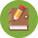 blogging, notebook, pencil, write icon