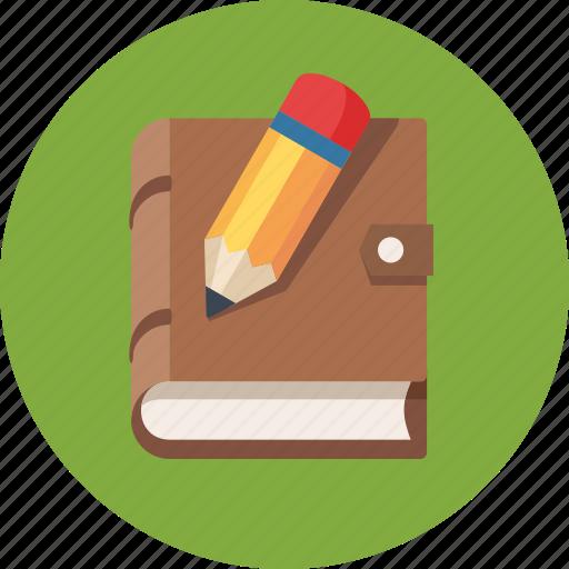 blogging, notebook, pencil, write icon