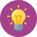 brainstorming, creativity, idea, light bulb icon