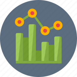 bar graph, business data, keyword rankings, statistics icon