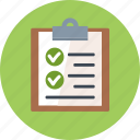 clipboard, document, file, seo, seo audit, to-do list icon