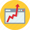 business, growth, monitoring, progress, seo icon