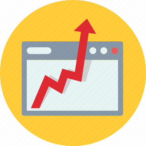 business, growth, progress, seo monitoring icon
