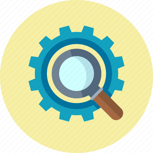 business, gear, internet, magnifier, magnifying glass, optimization, search, search engine, search engine optimization, seo icon