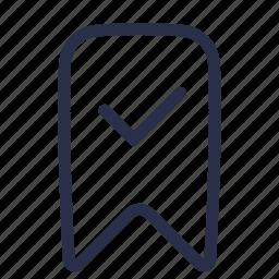 bookmark, chek, favorite, favourite, like icon