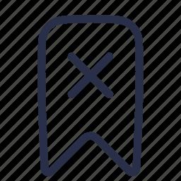 bookmark, cancel, delete, favorite, remove icon