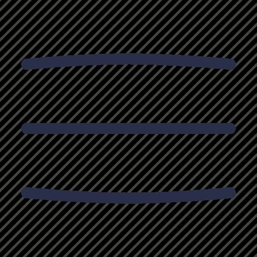 burger, hamburger, menu, navigation, options, sidebar, text icon