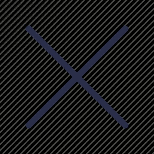 cancel, close, cross, delete, exit, fail, remove icon