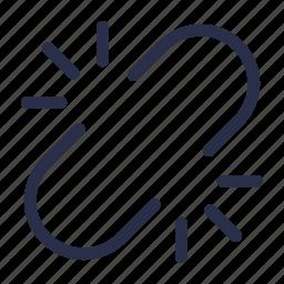 broken link, chain, link, unhook, unlink, url icon