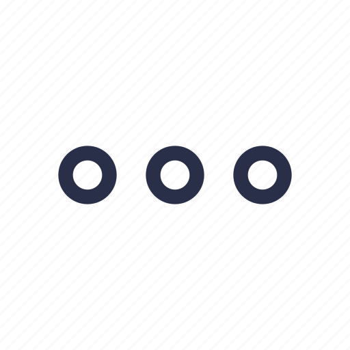 dots, menu, more, options icon