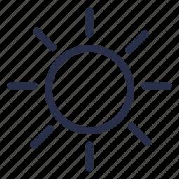 brightness, day mode, light, light mode, sun, weather icon
