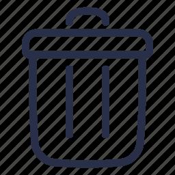 bin, delete, junk, recycle, remove, rubbish, trash icon