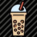 bubble, milk, pearl, tapioca, tapioca balls, tea icon