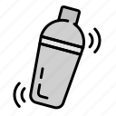 bar, cocktail shaker, drink, shake, shaker icon