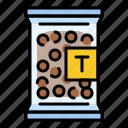 bag, package, pearl, sweet, tapioca, tapioca ball