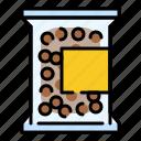 bag, bubble, package, pearl, sweet, tapioca, tapioca ball icon