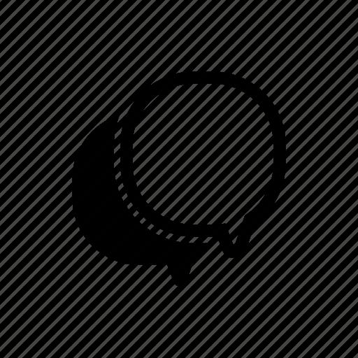 bubble, chat, comment, double, message, speech, talk icon