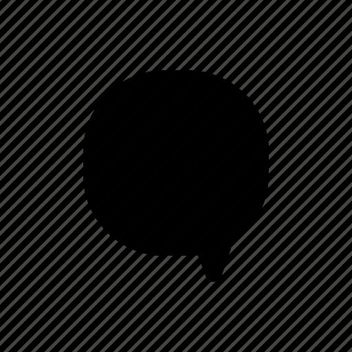 block, bubble, chat, comment, fill, message, talk icon