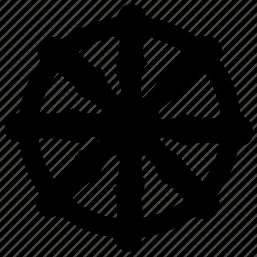 buddha, label, religion, round, sign icon