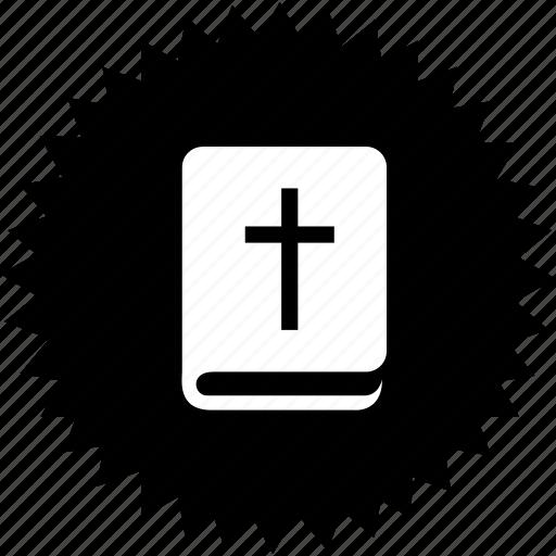 bible, book, cross, saint icon