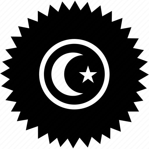 faith, islam, islamic, religion, round, sign icon