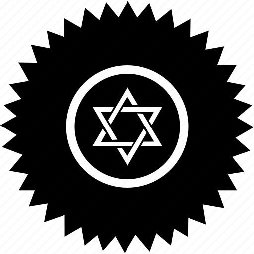 david, israel, religion, round, star icon