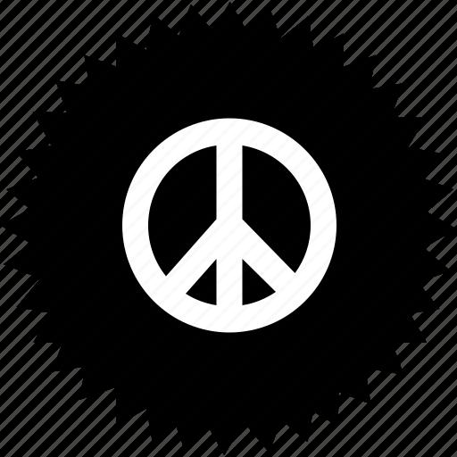 hippi, piece, religion, round, world icon