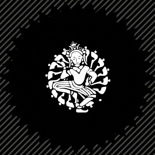 dance, god, round, shiva, worship icon
