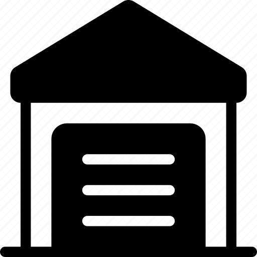 building, garage, house, real estate, real-estate icon