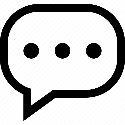 bubble, chat, communication, dots, more, talk icon