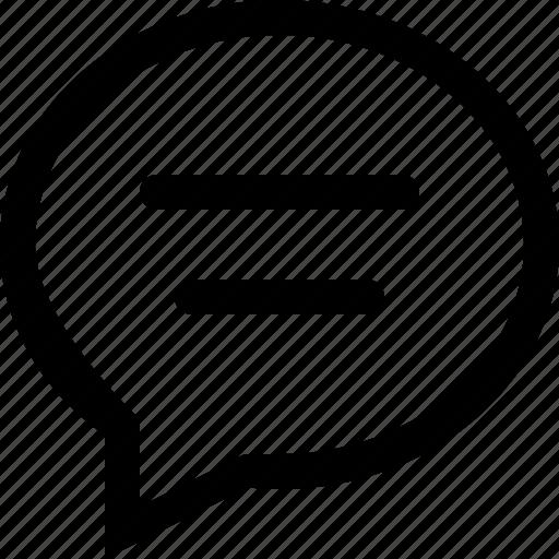 bubble, chat, communication, conversation, line, talk icon