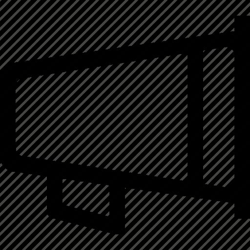 announcement, broadcast, communication, megaphone icon